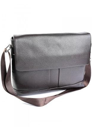 Мужская кожаная сумка горизонтальная шкіряна чоловіча сумочка а4 портфель