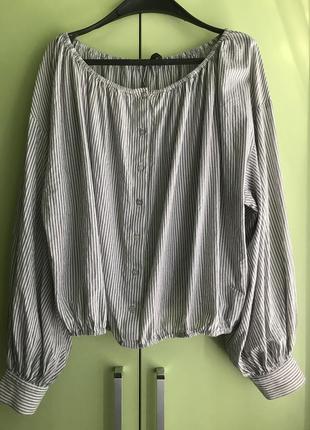 Блузка с обьемными рукавами,м,l