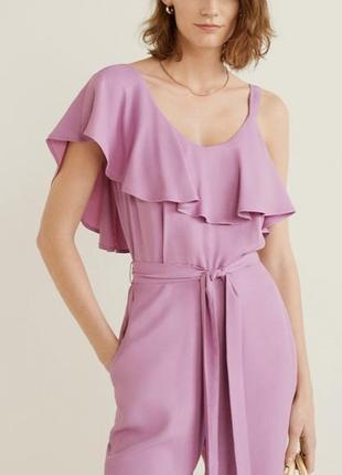 Комбинезон вечерний ніжний нежный, розовый пудра красивый модный mango xs,s