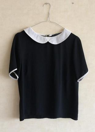 Блуза чёрная с воротничком