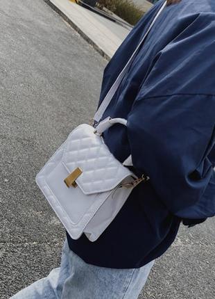 Сумка женская белая клатч маленькая сумка