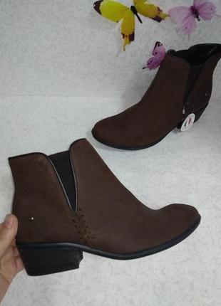 Кожаные ботинки челси ixoo (ай-екс-о-о) 37р. стелька 24 см.