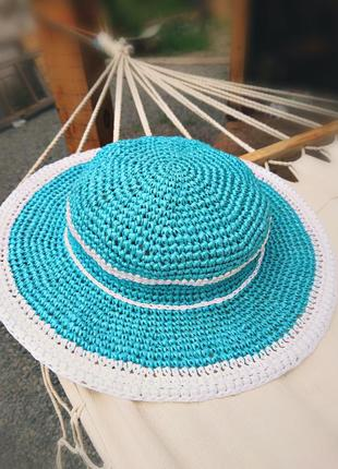 Шляпа с широкими полями летняя панама