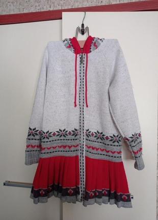 Кардиган - платье на девочку