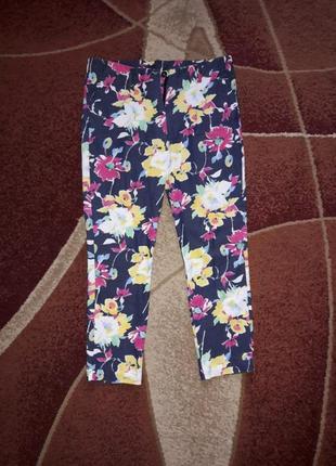 Брюки штаны бриджи цветочный принт