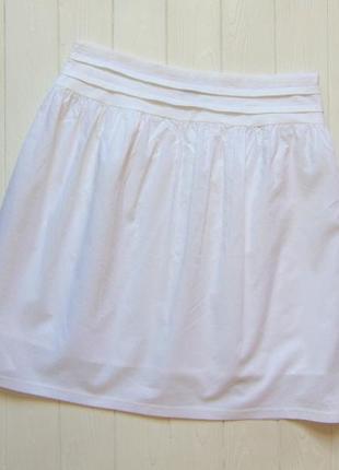 C&a. размер s. лёгкая белоснежная юбка для девушки