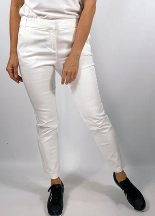 Белоснежные хлопковые брюки