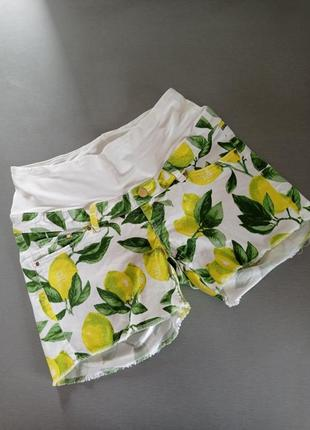 Короткие шорты для беременных с рисунком