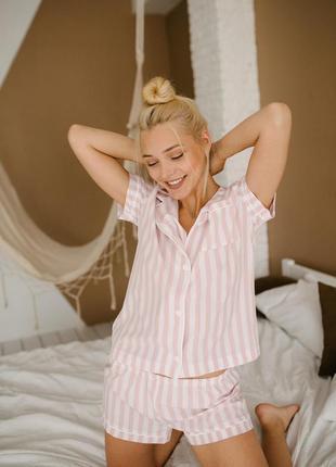 Пижама в полоску софт