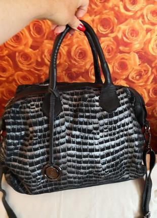 Vip!!!! шикарная брендовая кожаная сумка pierre cardin, италия👜👜🔥💥