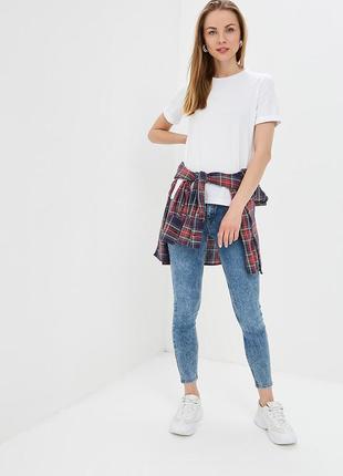 Скинни mango джинсы с высокой талией мом джинсы варенки скини голубые