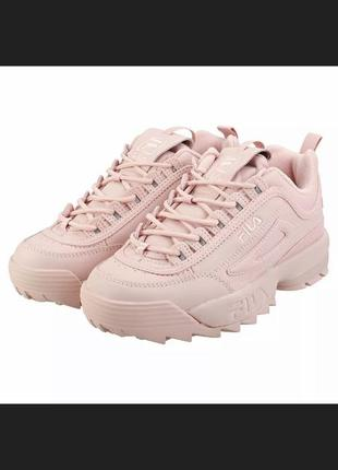 Fila disruptor ll - pink & white