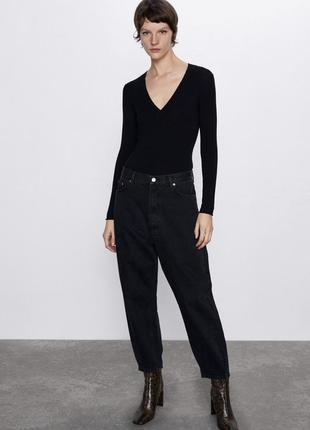Джинсы zara штаны слоучи джинсы slouchy petit свободные джинсы оверсайз