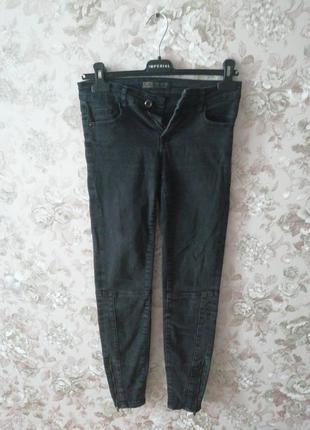 Чёрные джинсы denim со змейками