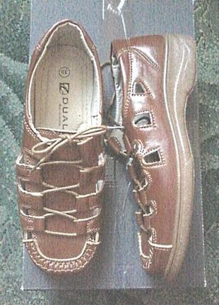 Легкие мягкие комфортные туфли босоножки на любую полноту ноги. стелька25,5см
