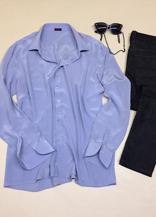 Итальянская шёлковая рубашка 100% шёлк
