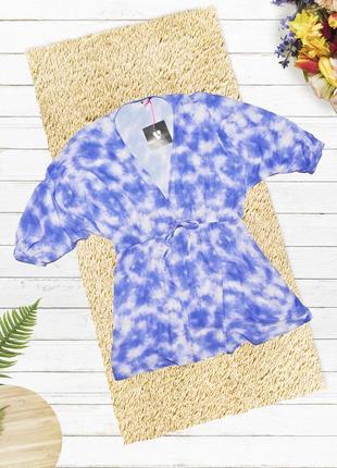 Новое пляжное платье небесного цвета v by very