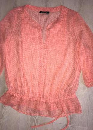Блуза летняя женская туника шифон л-хл