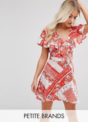 Милое легкое платье рюши miss selfridge
