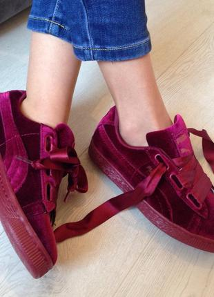 Удобные мягкие красивые бархатные кроссовки