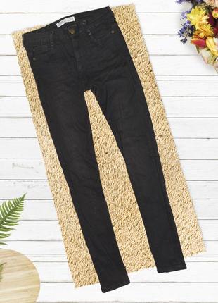 Чёрные узкие обтягивающие джинсы zara