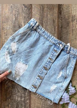 Джинсова юбка pull&bear