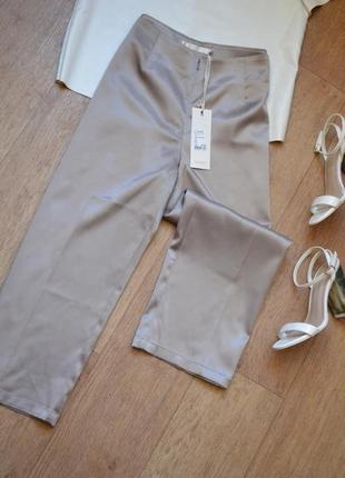 Новые кюлоты под шелк как шелковые атласные укороченные брюки штаны