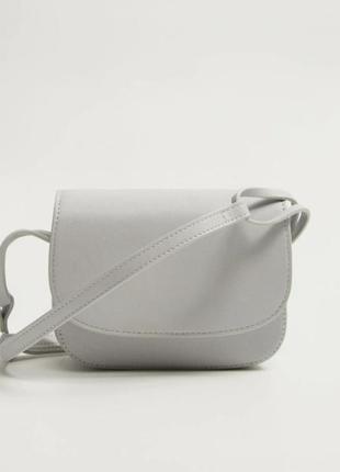 Крутая мини сумочка сумка crossbody серая mango