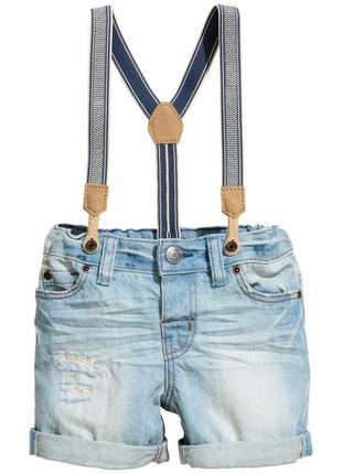Шорти джинсові на підтяжках  h&m