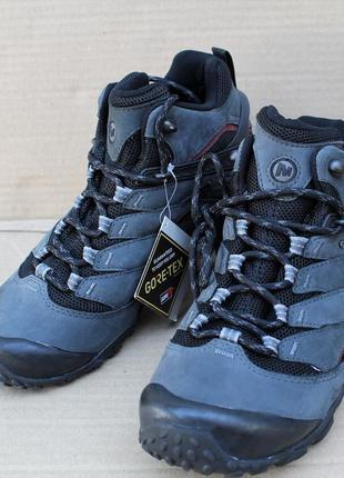 Ботинки merrell chameleon 7 mid gore-tex - grey j36757 мембрана оригінал