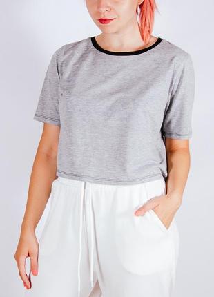 Базовая серая футболка, женская серая футболка