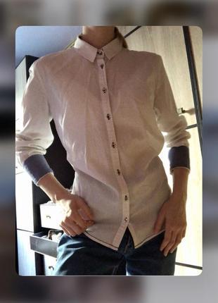 Женская белая рубашка офисная