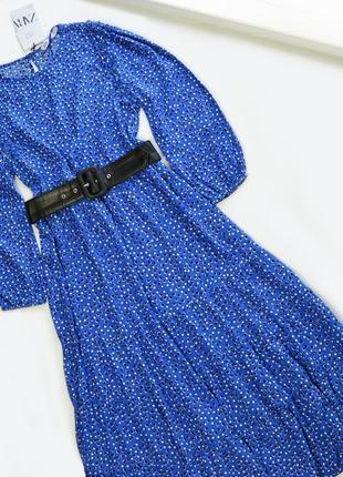 Летнее удлиненное легкое платье вискоза zara