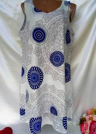 Красивое платье свободного кроя размер 14-16 (44-46) акция 1+1=3