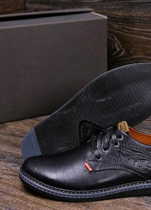 Мужские кожаные туфли levis stage1 chocolate levis s1 кор