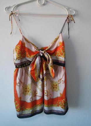 Майка блузка топ свободный крой, длина 62см в груди 41см