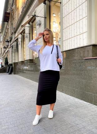 Костюм свитшот юбка