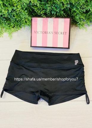 Спортивные шорты плавки pink victoria's secret gym to swim виктория сикрет
