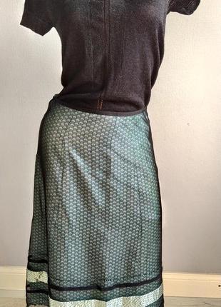 Нежная и стильная юбка из натурального шелка, трехслойная