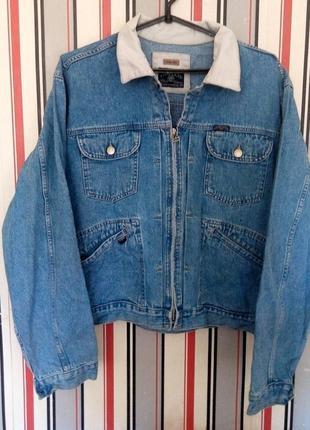 Винтаж/джинсовая куртка/ оверсайз мом ретро