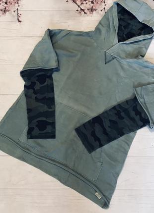 Кофта пайта с капюшоном милитари модная для мальчика от zara boy