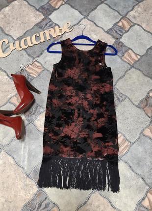 Бархатное платье размер s
