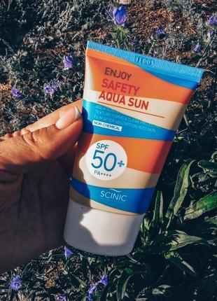 Солнцезащитный крем для лица scinic enjoy safety aqua sun spf50+pa