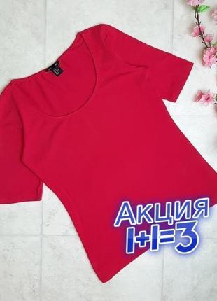 1+1=3 качественная базовая розовая женская футболка h&m, размер 44 - 46
