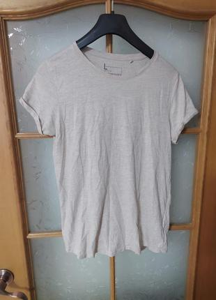 Базовая бежевая хлопковая футболка топ от fb sister,p. l