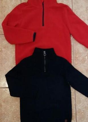 Стильный набор: флисовая кофта кофточка флиска и свитер с горлом zara