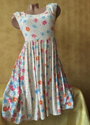 Милый сарафан миди в цветочки платье