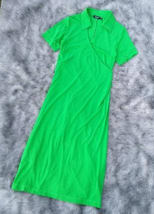 Платье поло с лифом на запах