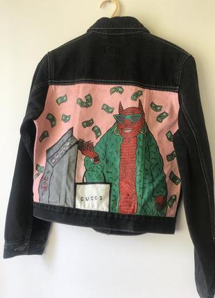 Custom джинсовка джинсовая куртка пиджак