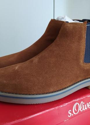 Замшевые коричневые ботинки  s.oliver